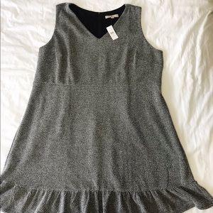 LOFT Plus Tweed Knee-Length Dress